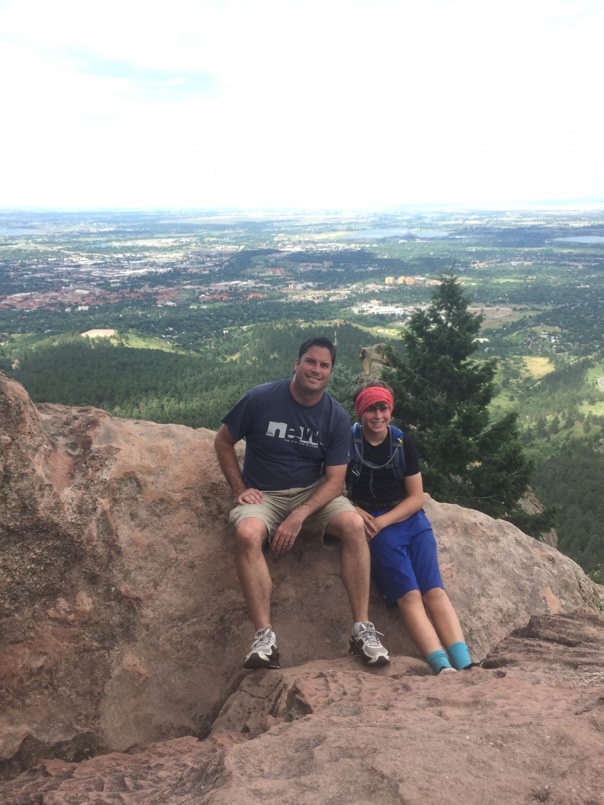 We did find a little time for some hiking.  This is Danny and I on top of the Flatirons in Boulder with CU (my alma mater) behind us. Go Buffs!