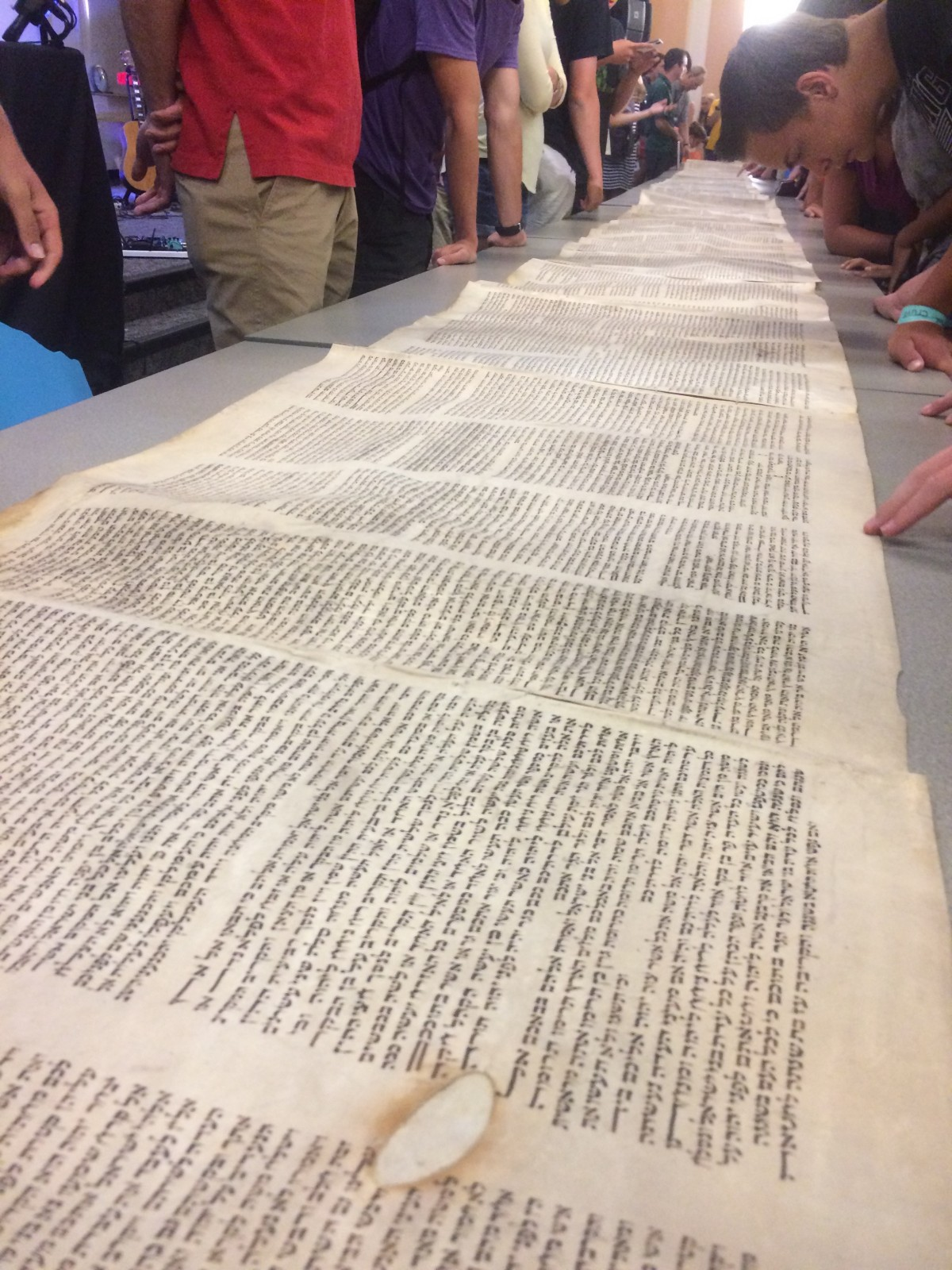 An ancient manuscript of the Old Testament.